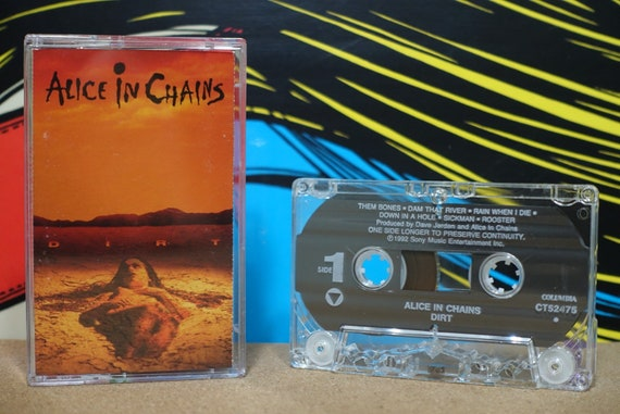 Dirt by Alice In Chains Vintage Cassette Tape