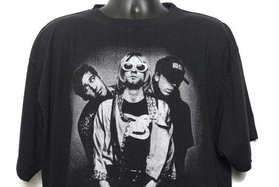 90s Nirvana Vintage T Shirt Bootleg Kurt Cobain Grunge Alternative Nevermind Concert Band T-Shirt