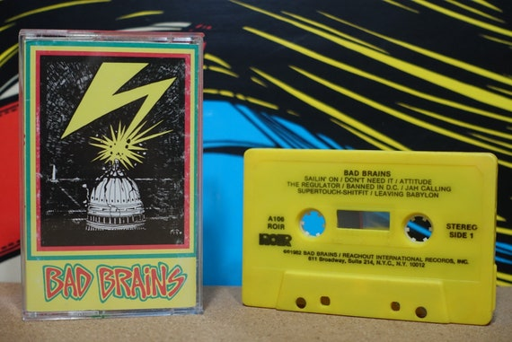 Bad Brains (Rare Yellow Tape) by Bad Brains Vintage Cassette Tape