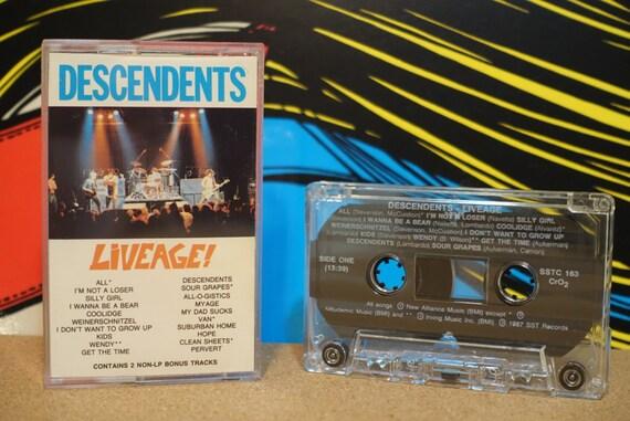 Liveage! by Descendents Vintage Cassette Tape