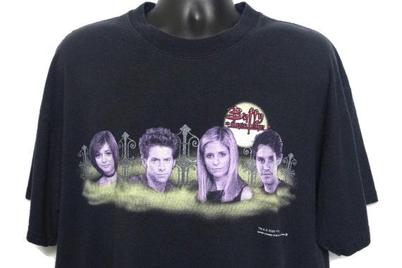 2000 Buffy the Vampire Slayer Vintage T Shirt Y2K Horror Tee Shirt Willow Oz Buffy Xander - Cult 90s 00s FOX TV Show Tee on Gildan Tag