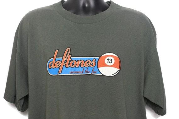 1998 Deftones Vintage T Shirt - Around The Fur - 13 Pool 8 Ball Metal Grunge Band Tee - Original 90s Giant Tag Concert Band T-Shirt