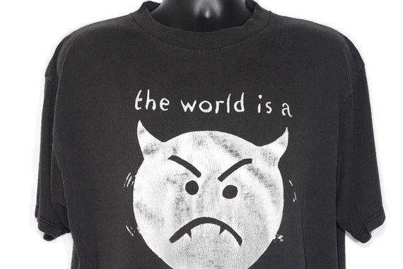 1996 Smashing Pumpkins - The World is a Vampire - 90's Infinite Sadness Tour Double-Sided Vintage Concert T-Shirt