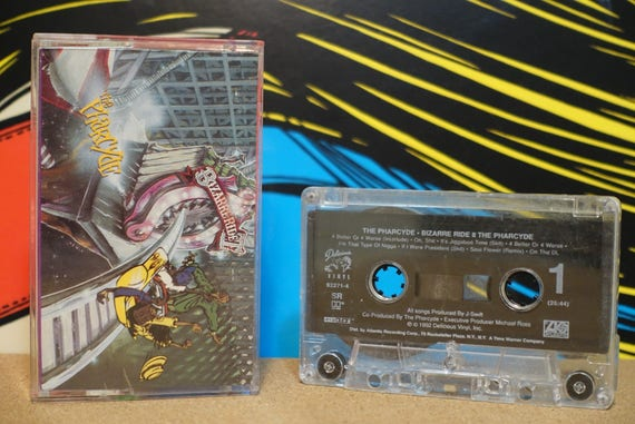 Bizarre Ride II The Pharcyde (CLEAN LYRICS) by The Pharcyde Vintage Cassette Tape