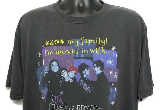 2000s Ozzy Osbourne Family Vintage T Shirt - Moving In with The Osbournes - Original 00s Cult Reality TV Show Tee T-Shirt