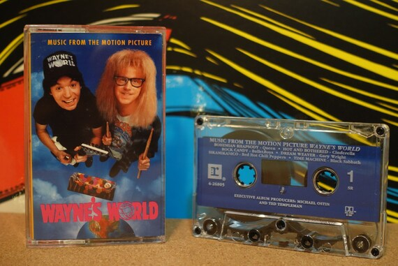 Music From The Motion Picture Wayne's World by Various Artists Vintage Cassette Tape