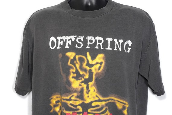 1994 The Offspring Vintage T Shirt - SMASH PUNK Skeleton 2-Sided Original 90s Concert Band T-Shirt