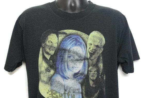1998 Buffy the Vampire Slayer Vintage T Shirt - Spike Vampire Tee Bite Me - 90s Cult TV Show Tee Vintage T-Shirt