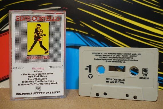 My Aim Is True by Elvis Costello Vintage Cassette Tape