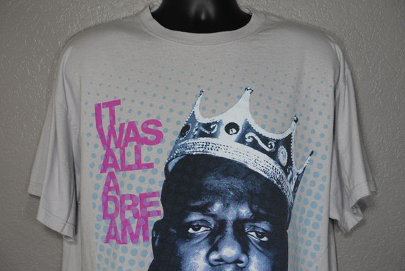 RARE Notorious BIG Biggie Smalls - It Was All A Dream - Brooklyn Mint - Large Vintage T-Shirt