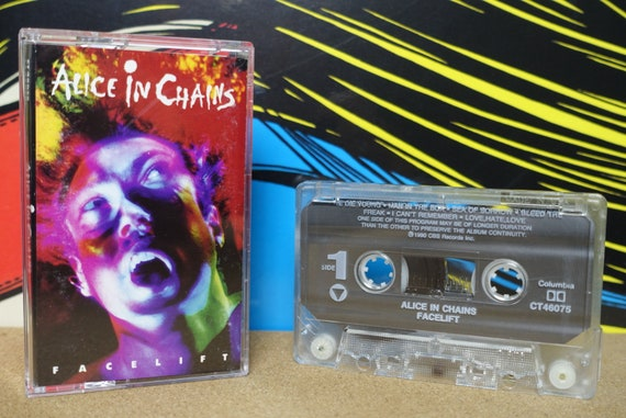 Alice In Chains Facelift Cassette Tape - 1990 Columbia Records Vintage Grunge Analog Music