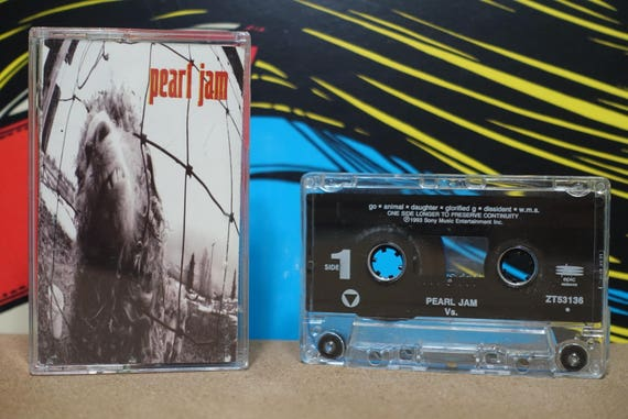 Vs by Pearl Jam Vintage Cassette Tape