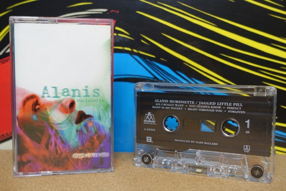 Alanis Morissette - Jagged Little Pill Cassette Tape - 1995 Maverick Records Vintage Analog Music