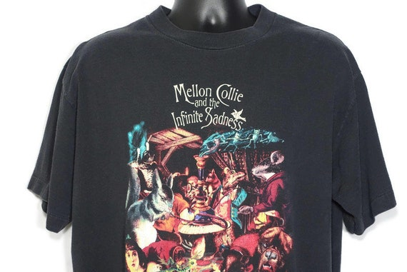 1996 Smashing Pumpkins Vintage T Shirt - Mellon Collie Infinite Sadness Tour - Skull Cross Bones 2-Sided Original 90s Band T-Shirt