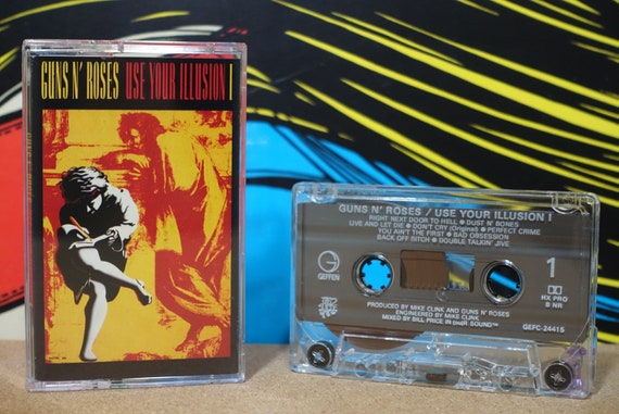 Use Your Illusion I by Guns N' Roses Vintage Cassette Tape