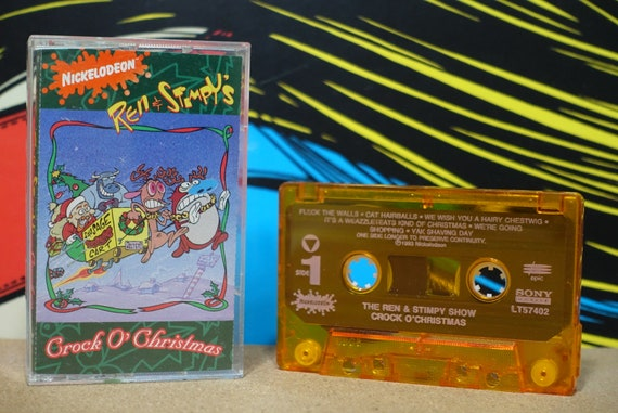 Crock O' Christmas by The Ren & Stimpy Show Vintage Cassette Tape