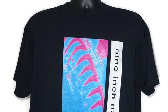 1995 RARE NIN Nine Inch Nails - Hate 1990 Pretty Hate Machine Double-Sided NIN Vintage Concert T-Shirt
