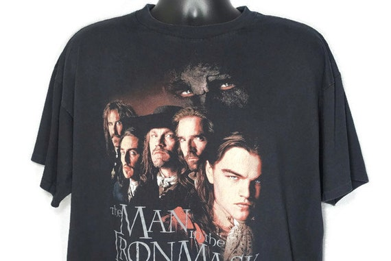 1998 Man In the Iron Mask - Leonardo DiCaprio Cult Film Movie Promo Vintage T-Shirt