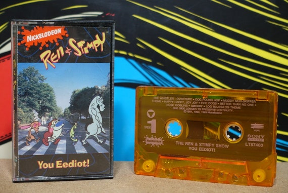 You Eediot! The Ren & Stimpy Show Vintage Cassette Tape