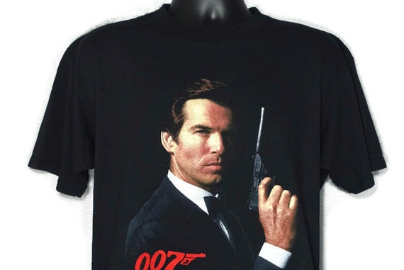 1995 RARE James Bond 007 GoldenEye - Pierce Brosnan - You Can Still Depend On One Man - Double Sided Cult 90s Movie Vintage T-Shirt