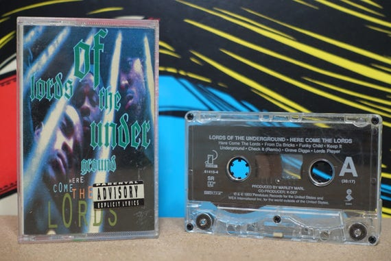 Lords Of The Underground - Here Come The Lords Cassette Tape - 199 Pendulum Records Vintage Analog Music