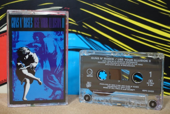 Use Your Illusion II by Guns N' Roses Vintage Cassette Tape