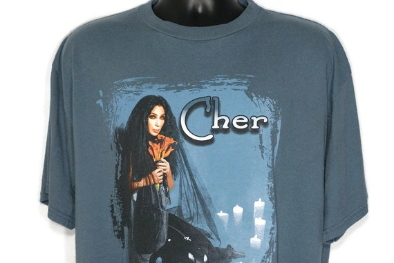 1999 Cher Vintage T Shirt - Do You Believe In Love - 2 Sided Original 90s Concert Band T-Shirt
