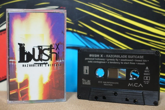 Razorblade Suitcase by Bush Vintage Cassette Tape