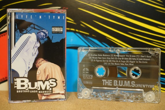 Lyfe'N'Tyme by The B.U.M.S. (Brothas Unda Madness) Vintage Cassette Tape