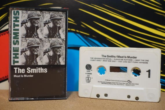 Meat is Murder by The Smiths Vintage Cassette Tape