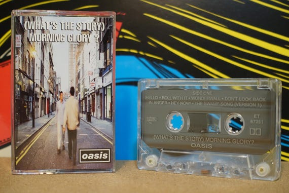 Oasis - What's The Story Morning Glory? Cassette Tape - 1995 Epic Records - Vintage Analog Music