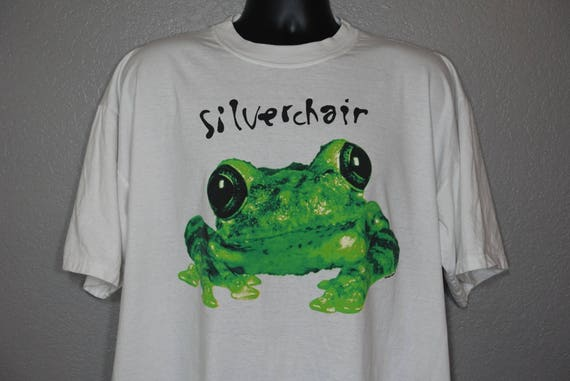 1995 RARE Silverchair - Frogstomp '95 Frog Double-Sided Concert Vintage T-Shirt