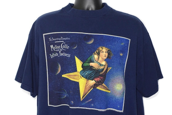 1995 Smashing Pumpkins Vintage Shirt - John Craig Design Mellon Collie & Infinite Sadness Tour - 2 Sided Original 90s Concert Band T-Shirt