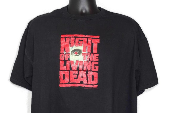 Vintage Original 90s 1990 Night of the Living Dead - George A. Romero Cult Zombie Horror Movie - Vintage T-Shirt
