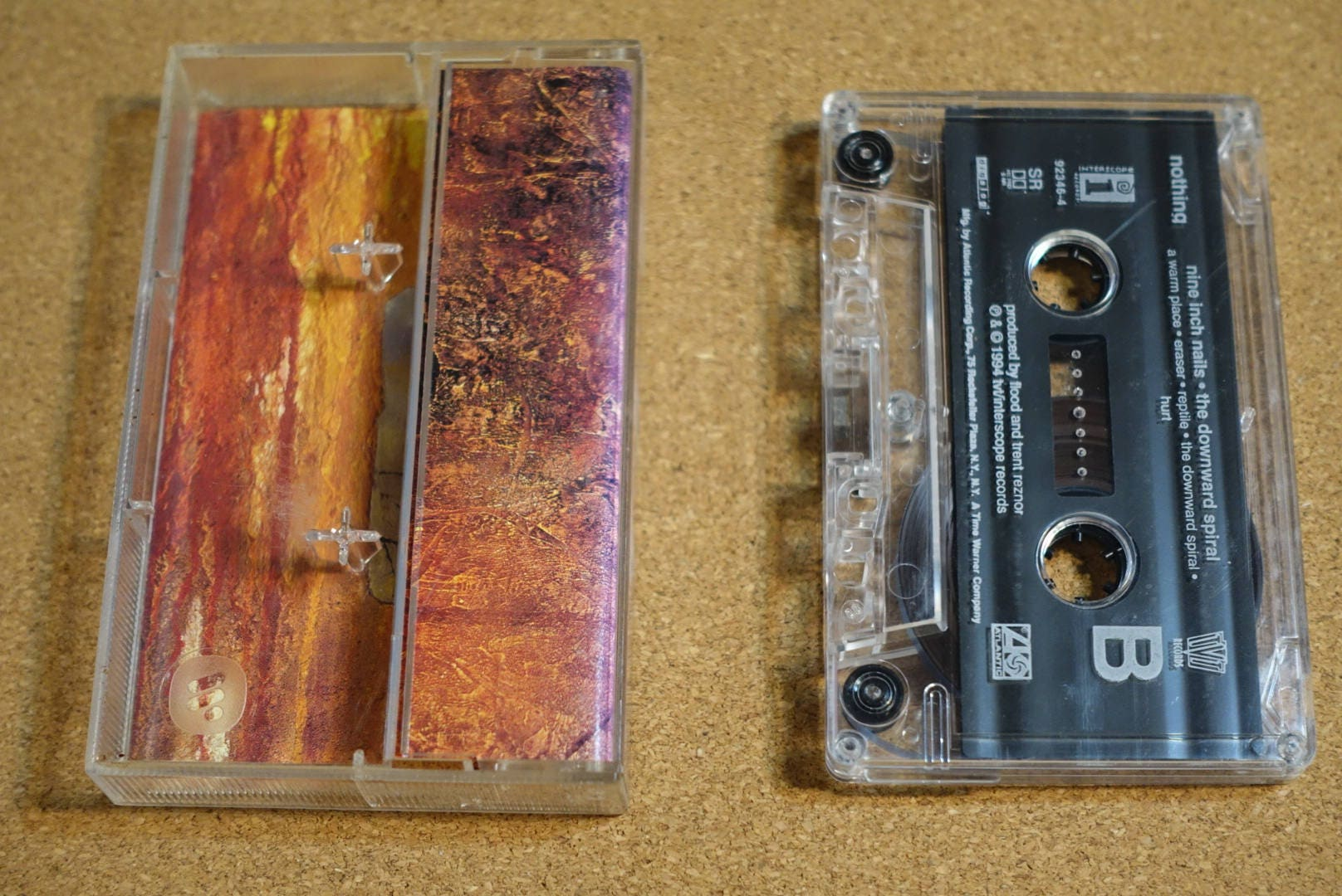 The Downward Spiral by Nine Inch Nails NIN Vintage Cassette Tape