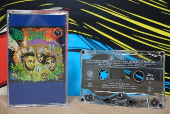 Jungle Brothers - Done By The Forces Of Nature Cassette Tape - 1989 Warner Bros Records Vintage Analog Music