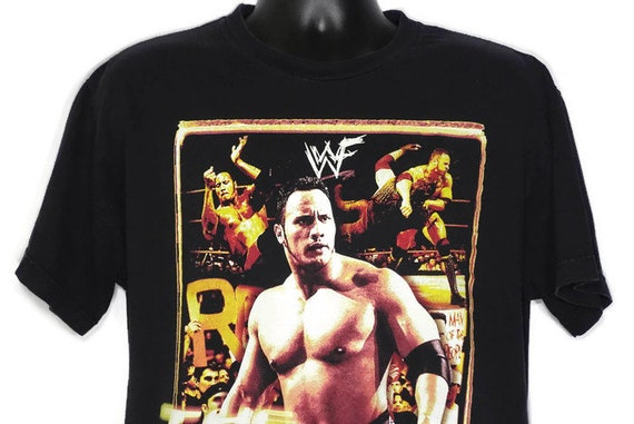 Vintage Original 90s The Rock Dwayne Douglas Johnson 1999 WWF World Wrestling - The People's Choice - Cult TV 2 Sided Vintage T-Shirt