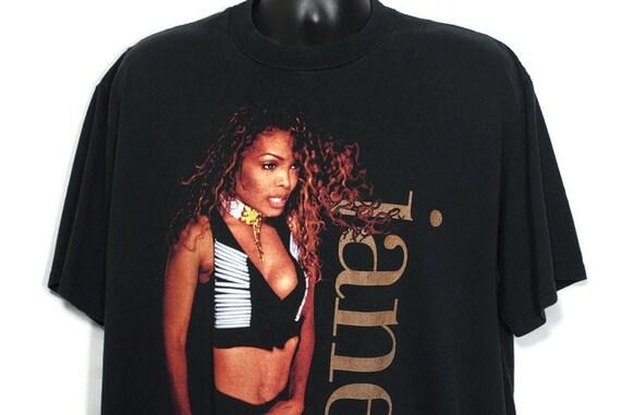 1993 Janet Jackson Vintage T Shirt - '93 to '94 World Tour 2 Sided Original 90s Concert Vintage Band T-Shirt