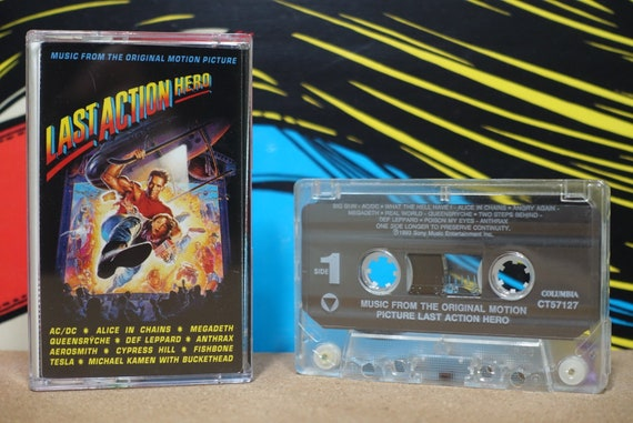 Last Action Hero (Music From The Original Motion Picture) by Various Artists Vintage Cassette Tape