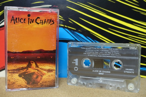 Alice In Chains Dirt Cassette Tape - 1992 Columbia Records Vintage Grunge Analog Music