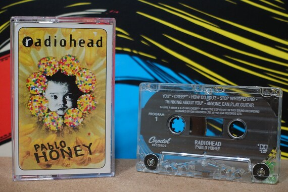 Radiohead - Pablo Honey Cassette Tape - 1993 Capitol Records Thom Yorke Vintage Analog Music