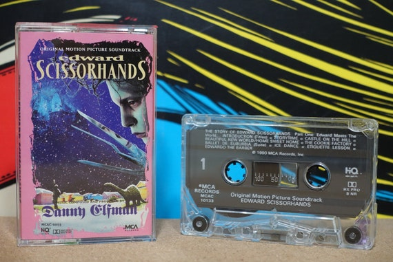 Edward Scissorhands (Original Motion Picture Soundtrack) By Danny Elfman Vintage Cassette Tape