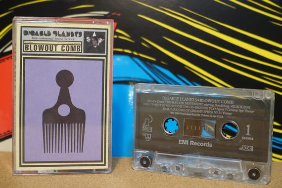 Blowout Comb by Digable Planets Vintage Cassette Tape