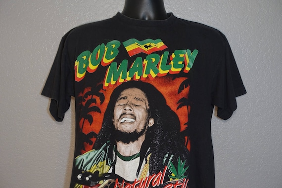 90's RARE Bob Marley - Natural Mystic - Catch A Fire Double-Sided Vintage T-Shirt