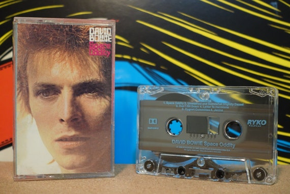 Space Oddity by David Bowie Vintage Cassette Tape
