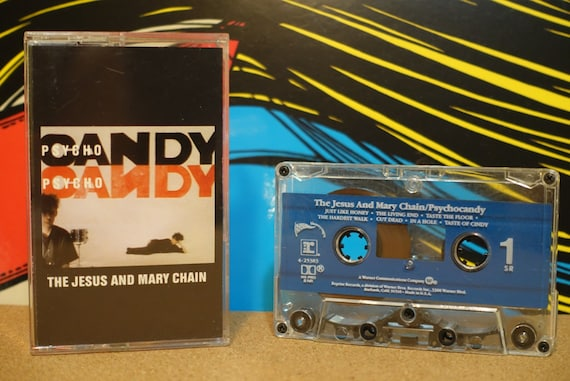 Psychocandy by The Jesus And Mary Chain Vintage Cassette Tape
