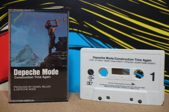Depeche Mode - Construction Time Again Cassette Tape - 1983 Sire Records - Vintage Analog Music