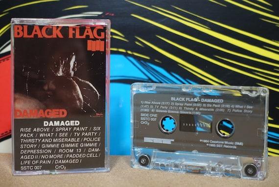 Damaged by Black Flag Vintage SST Records Cassette Tape