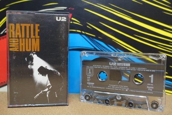 U2 - Rattle And Hum Cassette Tape - 1988 Island Records Live Album Vintage Analog Music