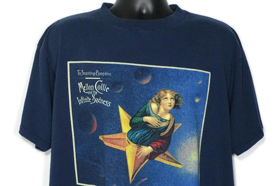 1995 RARE Smashing Pumpkins - John Craig Design Mellon Collie & Infinite Sadness Tour - Double Sided Vintage Concert T-Shirt